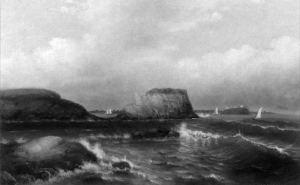 John Gordon Saxton - Sailing Off of Egg Rock, Nahant, 1887